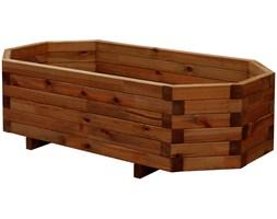 Donica drewniana 500 x 1000 mm impregnacja brąz