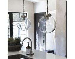 Lampa szklana kula srebrna Normandy 40 cm - PR Home