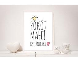 """Plakat z napisem: """"Pokój małej księżniczki"""""""