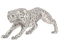 vidaXL Rzeźba jaguara, lite aluminium, 50 x 10 x 14 cm, srebrna