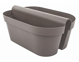 Doniczka BE-UP CASSETTA 33x50/20 cm - taupe