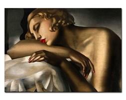 TAMARA ŁEMPICKA - ŚPIĄCA KOBIETA obraz, 50x70 cm