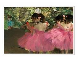 DEGAS - BALETNICE W RÓŻU obraz w białej ramie, 63x93 cm