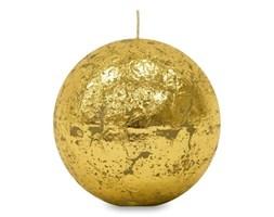GLAMOUR świeca kula złota, wys. 10 cm