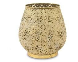 PRADESH lampion złoty ażurowy metalowy, wys. 21 cm