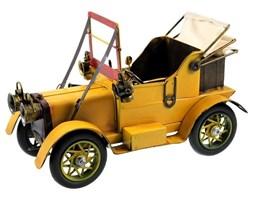 AUTO replika auta żółta metalowa, 28x18x13 cm