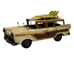 AUTO DLA SURFERA replika auta beżowo-brązowa z bagażnikiem dachowym, 34x16x12 cm