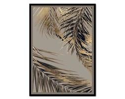 BARCELLO GREY II obraz złoty liść palmy, 53x73 cm