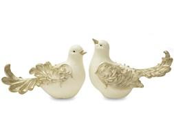 PTAK figurka, dekoracja ze złotym, wys. 12/14 cm