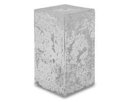 GLAMOUR świeca kostka biało-srebrna, wys. 14 cm