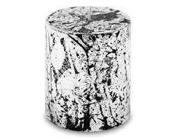 GLAMOUR świeca czarno-srebrna, wys. 8 cm
