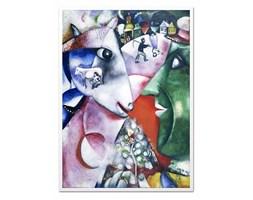 MARC CHAGALL obraz w białej ramie, 53x73 cm