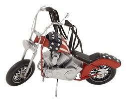 MOTOCYKL replika motoru czerwona z wstążkami, flaga amerykańska, 21x31x10 cm