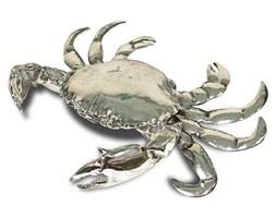 KRAB figurka , ozdoba srebrna, 8x25x19 cm