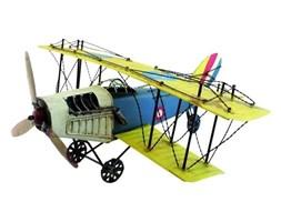 Replika samolotu niebiesko-zielona, 50x20x45 cm