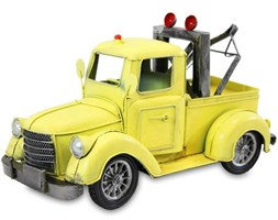 POMOC DROGOWA replika auta żółta, 18x15x31 cm