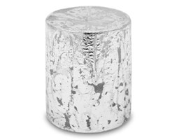 GLAMOUR świeca biało-srebrna, wys. 8 cm
