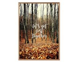 """LET""""S GET LOST TOGETHER obraz jesienny w ramie, 53x73 cm"""
