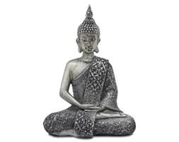BUDDA - KWIAT LOTOSU figurka srebrna, dekoracja, 21x15x9 cm