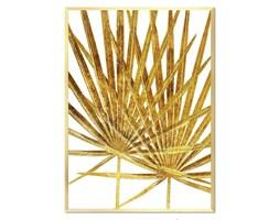 ZŁOTE LIŚCIE obraz w złotej ramie,53x73 cm