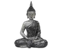 BUDDA - KWIAT LOTOSU figurka srebrna, dekoracja, 12x34x16 cm