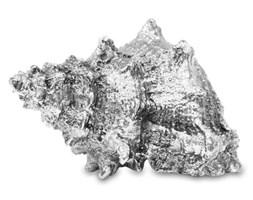 MUSZLA ozdoba, dekoracja srebrna 9x16x11 cm