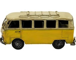 VOLKSWAGEN metalowa replika autobus żółty, 31x15x13 cm