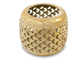 BIHAR lampion złoty ażurowy metalowy, wys. 10 cm