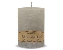 RUSTIC świeca pieńkowa metal szary, wys. 9 cm