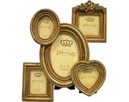 MEMORIES złota ramka dekoracyjna na 5 zdjęć, do postawienia, 32x26 cm
