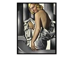 TAMARA ŁEMPICKA obraz w czarnej ramie, 53x73 cm