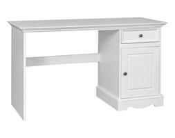 Biurko pojedyncze sosnowe Belluno Elegante białe