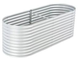 vidaXL Donica ogrodowa z galwanizowanej stali, 240x80x81 cm, srebrna