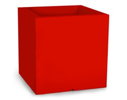 Donica kwadratowa Monumo Pixel Pot 50 cm z odprowadzaniem wody, czerwona