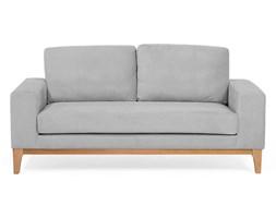 Sofa dwuosobowa welur jasnoszara TIDAN