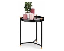 stolik łazienkowy, śred. 40 x 52,5 cm, metal/drewno dębowe, szklany blat kod: KE-24266