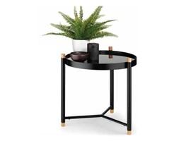 stolik łazienkowy, śred. 45 x 47,5 cm, metal/drewno dębowe, szklany blat kod: KE-24267