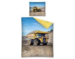 Pościel bawełniana 160x200 Wywrotka żółta ciężarówka