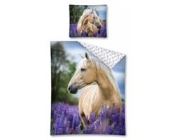 Pościel bawełniana 160x200 Koń w lawendowym polu
