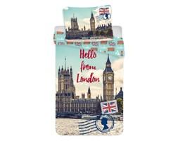 Pościel bawełniana 140x200 Londyn pocztówka Big Ben