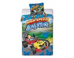 Pościel dziecięca 160x200 Myszka Miki Mickey w wyścigówce Faro