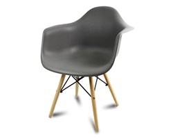 b16c02c724cc65 Krzesło nowoczesne stylowe na drewnianych bukowych nogach do salonu  restauracji szare 211AB