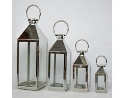 KOMPLET LATARNI METALOWYCH LAMPA SHABBY 4SZT