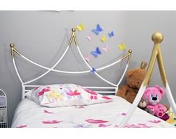 PRINCESKA metalowe łóżko dziecięce w kształcie korony