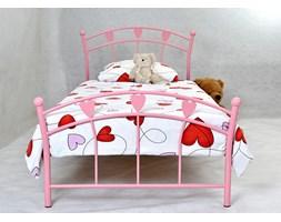 LOVLIK metalowe łóżko dziecięce z serduszkami