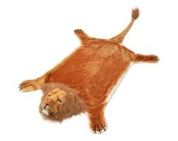 vidaXL Pluszowy dywan, lew, brązowy, 205 cm