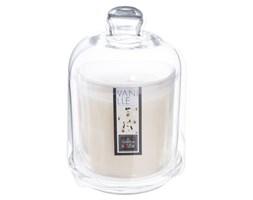 Waniliowa świeca zapachowa w świeczniku z kloszem, kominek zapachowy z intensywną nutą aromatyczną, 500g