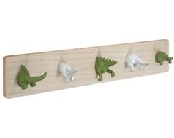 Wieszak dla dzieci Dinozaury, Atmosphera for Kids, 5 haczyków