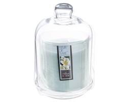 Kwiatowa świeca zapachowa na szklanej podstawce, kominek zapachowy z subtelną nutą aromatyczną