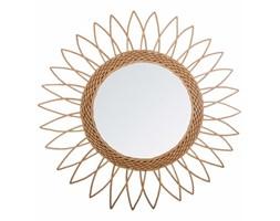 Lustro w ramie okrągłe wiszące z naturalnego rattanu w kształcie słońca marki Atmosphera